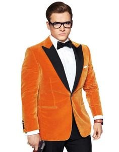 Kingsman The Golden Circle Tuxedo is available it in attractive orange color so shop it now!