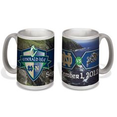 c4ee433d57b Notre Dame Fighting Irish vs. Navy Emerald Isle Classic 15 oz. Ceramic Mug #