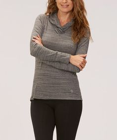 Look what I found on #zulily! Heather Charcoal Shawl Collar Top #zulilyfinds