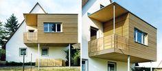 Erweiterung einer Doppelhaushälfte in modularer Bauweise aus Holz. Mehr Infos unter www.brett-holzbau.de