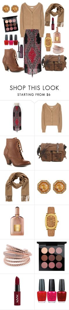 """""""A fall day 🍁"""" by ladytmllfashion19 ❤ liked on Polyvore featuring M.i.h Jeans, Dorothee Schumacher, Mojo Moxy, Hermès, Tom Ford, Versace, NYX, OPI and Clinique"""