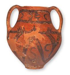 Amfora z ornamentem malowanym (późny #neolit)   #Archeologia #Macedonia #PMA #Muzeum #Museum #Arsenał #Warszawa #Warsaw #State #Archaeological #Museum