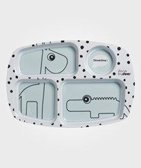 Done by Deer Happy Dots Compartment Plate Blue Blue