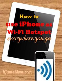 Need to send a quick email from your iPad? Use your iPhone as a Wifi hotspot for quick tasks.