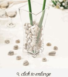 Guest Signing Stones in a Vase - Guest Book Ideas For Wedding - Guest Book Alternative
