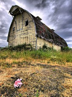 Old Barn w/Dolly by Lorenzo Pasqualis, via Flickr. Barn is located in Duvall, Washington.