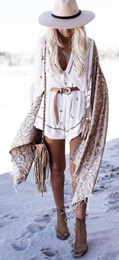 Boho style inspiration with this playsuit ღ | Stylish outfit ideas for women who follow fashion.