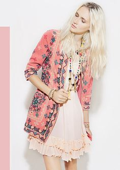 ethnic bobo embroidered jacket