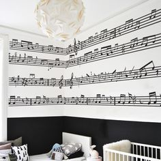 Music notes Wall Stickers pack for teens