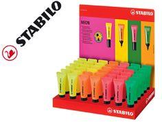 ¡Chollo! expositor Stabilo marcadores fluorescentes neon 42 unidades colores surtidos por sólo 15,61 euros.