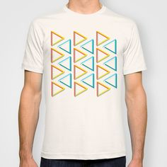 Impossible triangles geeky pattern tshirt.
