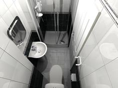 small ensuite shower room and Loft Small Wet Room, Small Bathroom With Shower, Loft Bathroom, Narrow Bathroom, Tiny Bathrooms, Ensuite Bathrooms, Bathroom Design Small, Bathroom Layout, Downstairs Bathroom