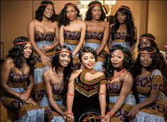 Cameroonian bride and her lovely bridesmaids. African Wedding Attire, African Attire, African Wear, African Dress, African Weddings, African Clothes, Traditional Wedding Attire, African Traditional Wedding, African Traditional Dresses