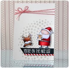 "Weihnachtskarte | Christmas card - My Favorite Things ""Jingle All The Way"", Mama Elephant ""Rendeer Games"", Copics"