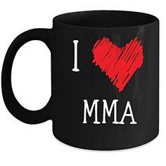 MMA cup I Love MMA MMA mug Birthday gift Gift for him or her 11oz Black