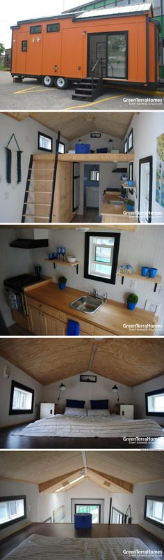 A custom, contemporary 310 sq ft tiny house from Green Terra Homes