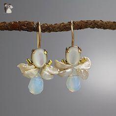 High End Handmade Delicate Pearl Bridal Drop Earrings, Small Pearl Wedding Earrings - Bridesmaid gifts (*Amazon Partner-Link)