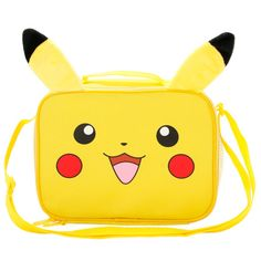 Pokemon Pikachu With Ears Lunch Box | Hot Topic (€18) ❤ liked on Polyvore featuring bags