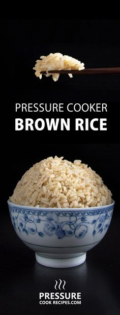 No more uncooked, burnt or mushy brown rice. Cut short half the cooking time & make perfect pressure cooker brown rice in 20 minutes! Set it and forget it. via @pressurecookrec