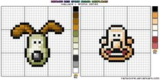 Wallace Gromit XStitch Chart: I have not crossed stitched in years, but Wallace & Gromit might change that. Love those two. Cheese Gromit!