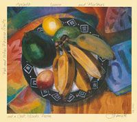 Rarotonga Composition with Avocado and Bananas Fruits And Veggies, Bananas, Avocado, Composition, Painting, Fruits And Vegetables, Lawyer, Painting Art, Paintings