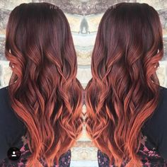 Pumpkin spice hair color by Hailey Mahone using #KenraColor! #RedHair #CopperHair