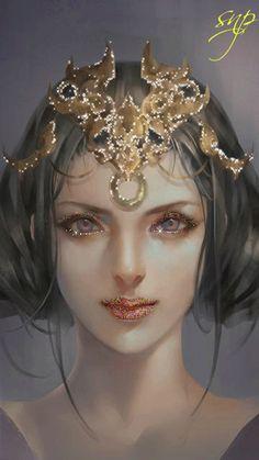 Загадачная девушка в титулованной короне!