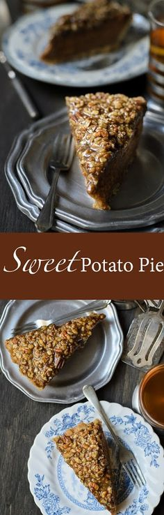 Sweet Potato Pecan Pie is a decadent and moreish pie. Excellent nutty crust that goes well with the sweet potato filling. Extra nutty topping that makes the pi(Baking Bread Life Changing) Homemade Desserts, Easy Desserts, Delicious Desserts, Dessert Recipes, Yummy Food, Pastry Recipes, Tart Recipes, Baking Recipes, Asian Recipes