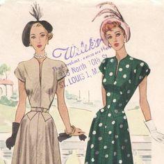 Late 1940s dress pattern -- McCall 7204. $50.00, via Etsy.