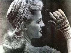One of my personal favs! 40s 50s fashion, Pretty Fairisle  glam hat and by gloves