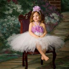 Ethereal Princess Lavender & White Crochet Tutu Dress $75.00