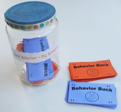 Behavior bucks used in conjunction with a kids chore chart - great ideas here!