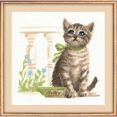Cross Sttich Kit - Meow by CrossStitchKitsOnly on Etsy