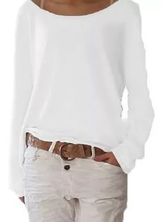 Shop Floryday for affordable Sweaters. Floryday offers latest ladies' Sweaters collections to fit every occasion. Mode Outfits, Casual Outfits, Casual Shirt, Summer Outfits, Mode Style, Pulls, Types Of Sleeves, Latest Fashion Trends, Long Sleeve
