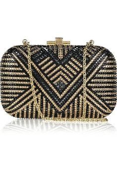 60796f75ed0f Judith Leiber Deco crystal-embellished clutch This Judith Leiber clutch has  a gold frame and chain-link handle that can be concealed inside the bag and  i