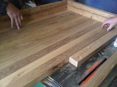 how to make a wood countertop | Butcher Block Countertops Made Out of Reclaimed Wood