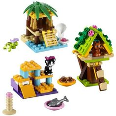 LEGO Friends Series 1 Complete Set: Turtle's Little Oasis - Cat's Playground - Squirrel's Tree House - Lego Friends Sets, Friends Series, Legos, Lego Zoo, Van Lego, Lego Furniture, Lego Challenge, Amazing Lego Creations, Lego Activities