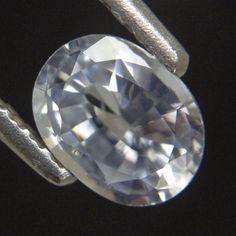 1.10ct Extraordinary Oval Cut! Shimmering 7x5mm Natural Sri Lanka White Sapphire