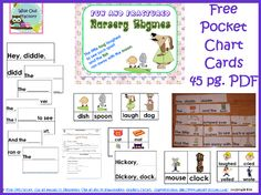 nursery rhymes photo of some of the pages in the free PDF