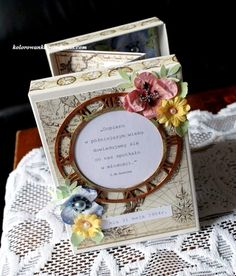 album w pudełki Decorative Boxes, Invitations, Handmade, Album, Fan, Inspiration, Board, Home Decor, Homemade Home Decor