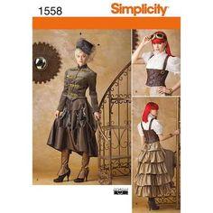 Simplicity 1558 Steampunk Costume  6 - 12