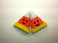 3-D Happy Candy Corn Tutorial by feelinspiffy (Rainbow Loom) - http://rainbowloomsale.com/3-d-happy-candy-corn-tutorial-by-feelinspiffy-rainbow-loom/