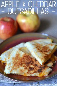 Apple and Cheddar Quesadillas - Glue Sticks and Gumdrops