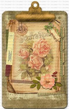 Serendipity Designs Collage Clipboards Vintage Era Tags