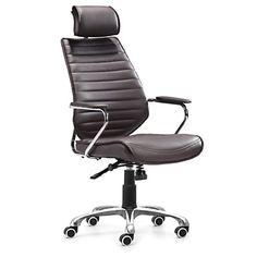 unico office chair. Unique Chair Zuo Modern Enterprise High Back Office Chair Espresso 205162 On Unico