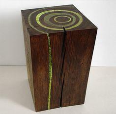 stump furniture | Bloc Wooden Stump Green Art1 Stumps as art furniture or sculptures