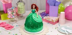 Disney Princess Ariel Signature Doll DecoSet Cake Topper Doll Cake Tutorial