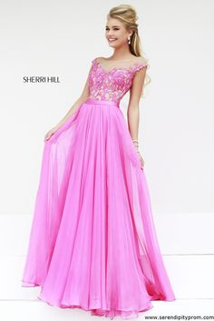 2015 High-Neck Pink/Nude Beaded Sherri Hill 11151 A-Line Long Lace Evening Gowns Prom Dresses Long Pink, Sherri Hill Prom Dresses, Prom Dresses Online, Pageant Dresses, Pretty Dresses, Homecoming Dresses, Beautiful Dresses, Dress Long, Dresses 2014