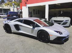 Lamborghini Aventador Super Veloce Coupe painted in Grigio Adamas Photo taken by: @mexmanofsteel on Instagram (He is also the owner of the car)
