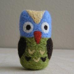 tiny felted owl